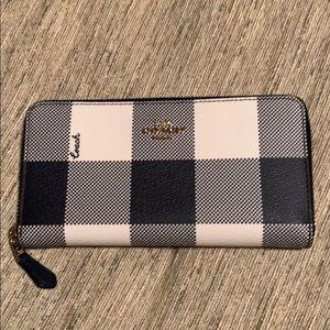 NWOT COACH accordion zip wallet